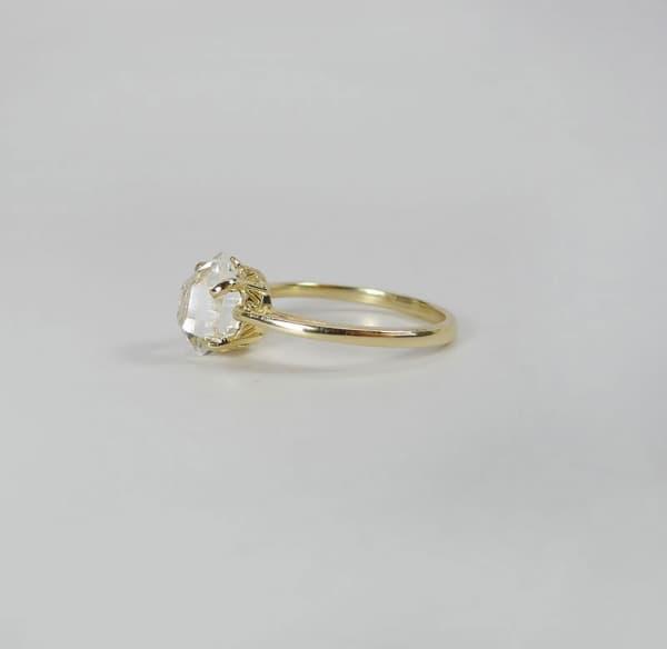 Raw Crystal Gold Ring