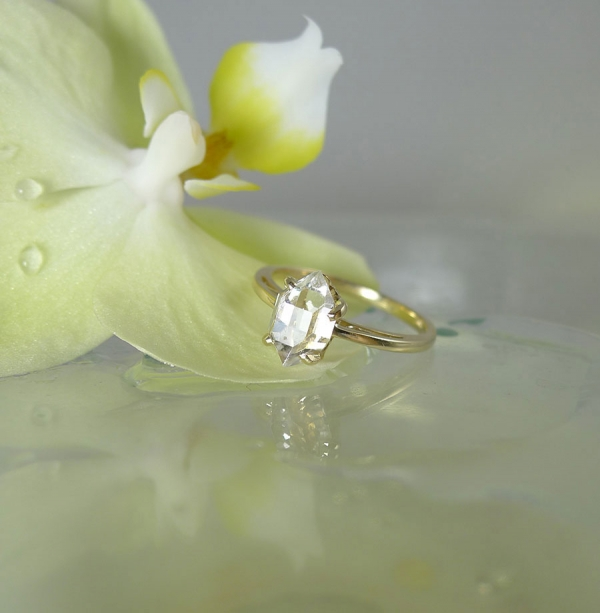 Raw Crystal Yellow Gold Ring