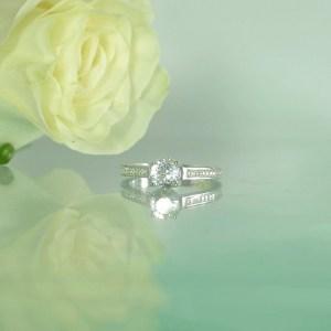 Natural Gemstone Engagement Ring