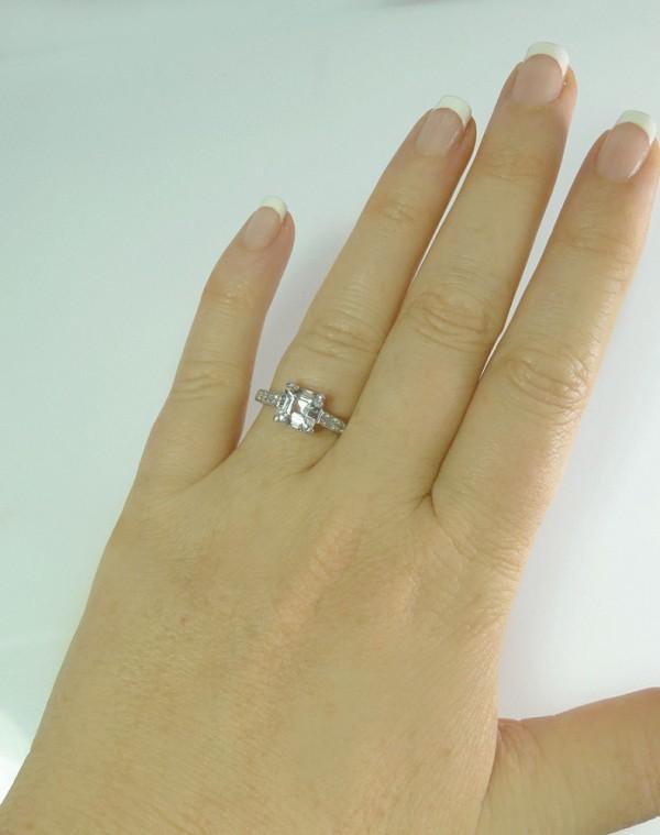 Asscher Cut Sterling Ring