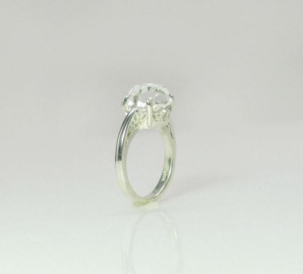 Large Raw Crystal Ring
