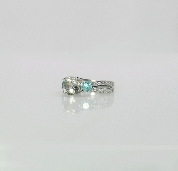 Three Stone Sterling Ring