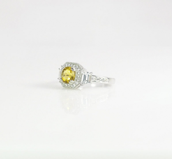 Yellow Statement Ring