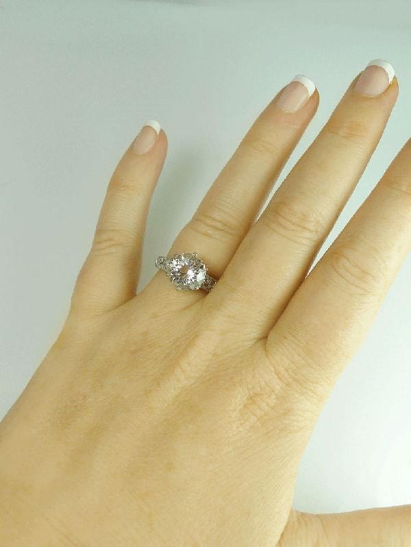 Handmade White Gold Ring