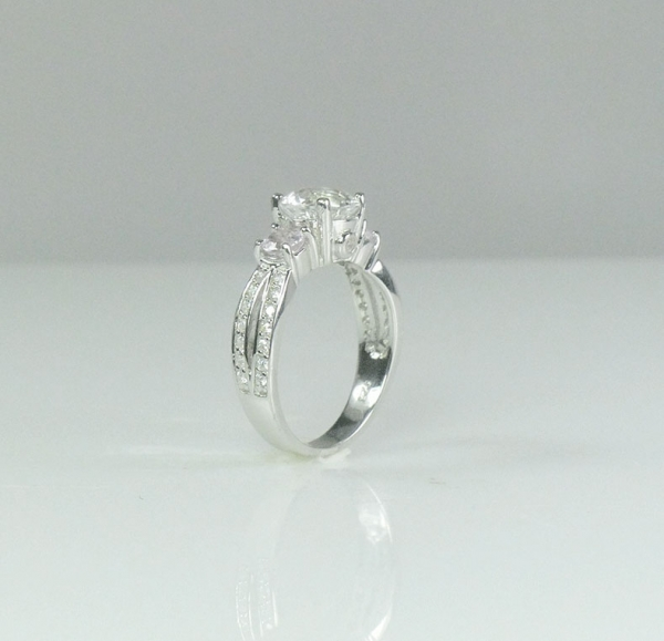 Unique Three Stone Ring