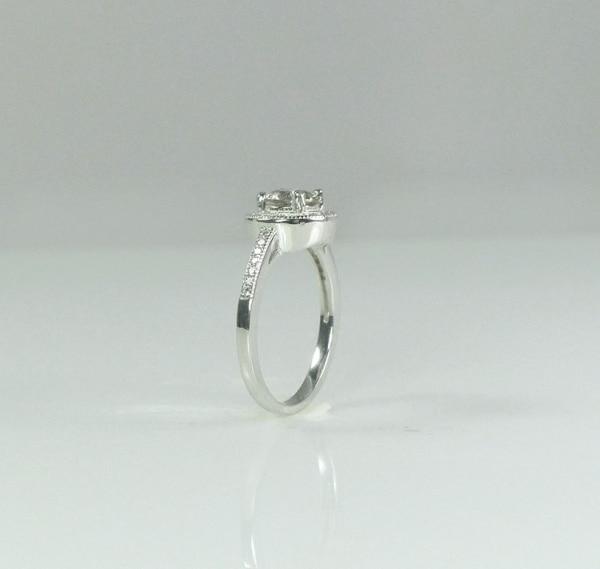 Natural Gemstone Halo Ring