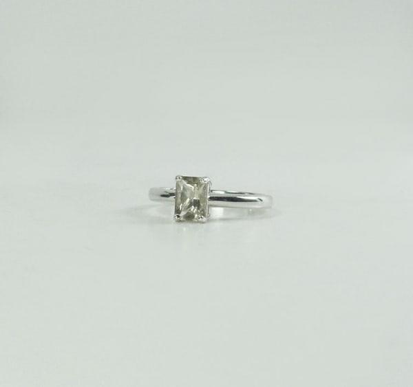 Emerald Cut Gemstone Ring