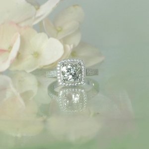 White Topaz Engagement Ring