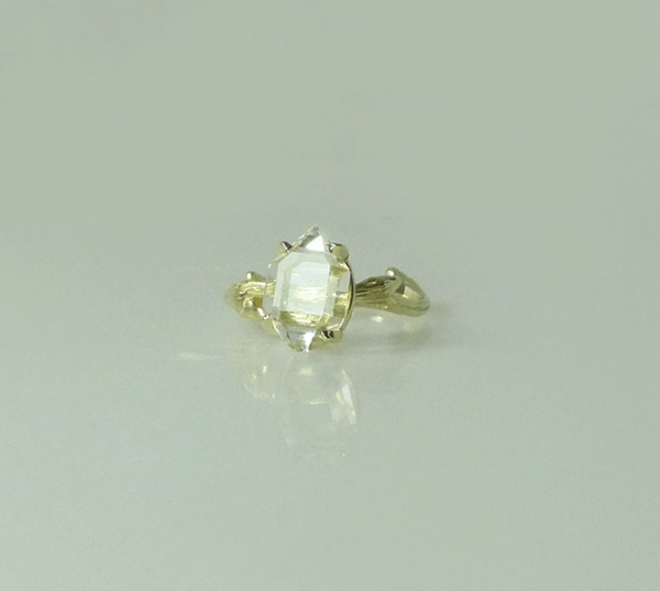 Raw Crystal Gold Tree Branch Ring