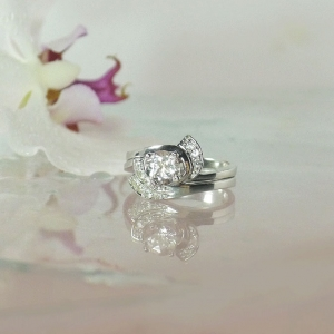 White Topaz Wedding Set