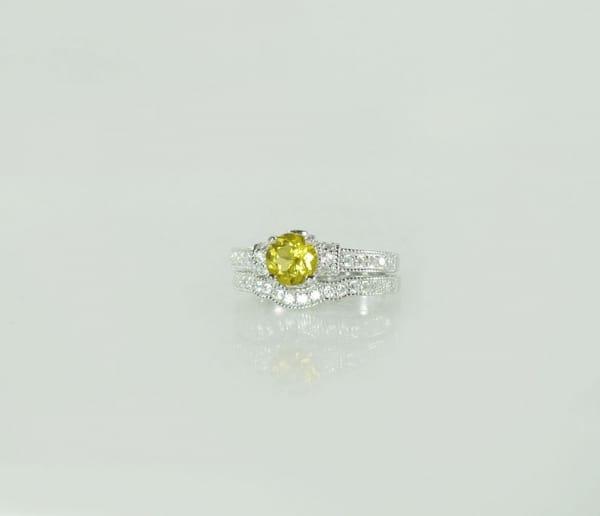 Yellow Gemstone Wedding Set