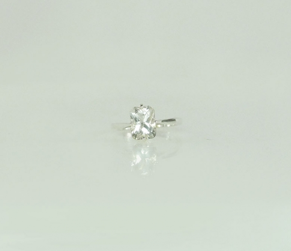 Unique Emerald cut gemstone ring