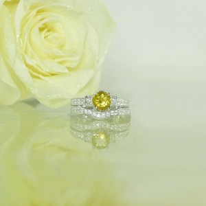 Yellow Gemstone Wedding Set