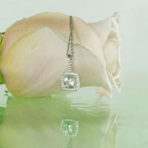 Diamond Alternative Halo Pendant