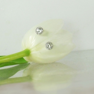 Natural Diamond Alternative Earrings