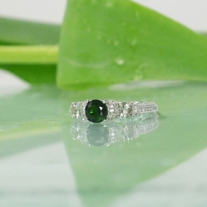Three Stone Tourmaline Ring