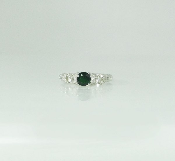 Three Stone Tourmaline Ring
