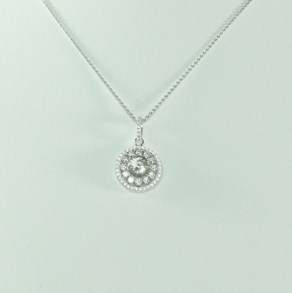 Antique Style Halo Necklace