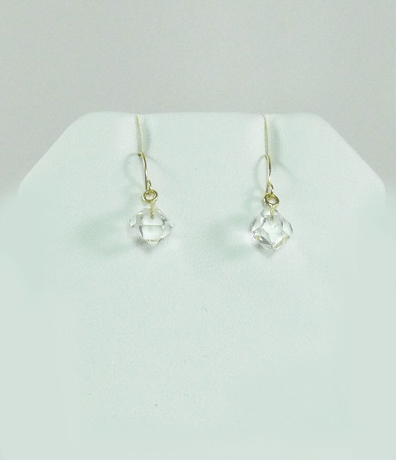 Raw Crystal Gold Earrings