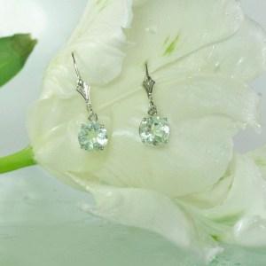 Green Fluorite Earrings