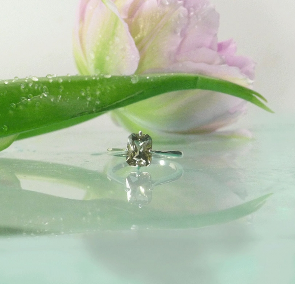 Solitaire Gemstone Engagement Ring