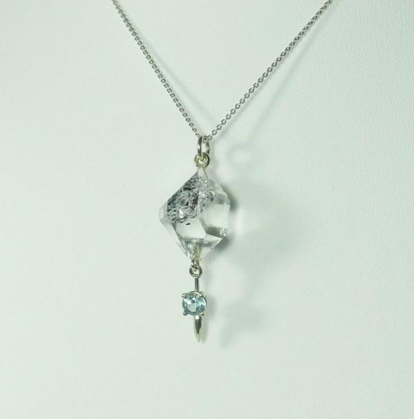 Raw Crystal Aquamarine Necklace