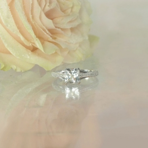 Antique Style Princess Cut Ring