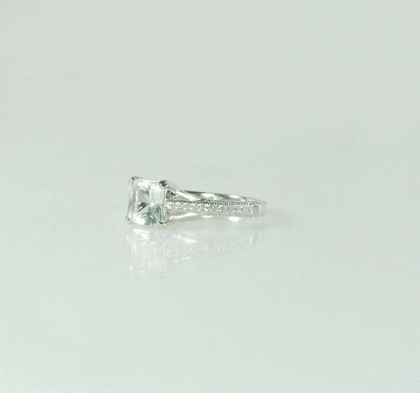 Antique Style Princess Cut Ring