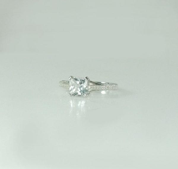 Antique Style Princess Cut RingAntique Style Princess Cut Ring