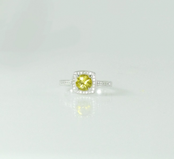 Yellow zircon ring
