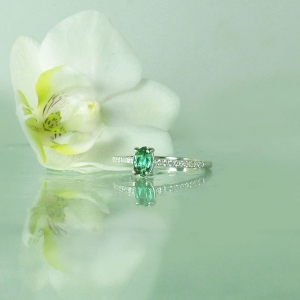 Dainty Tourmaline Ring