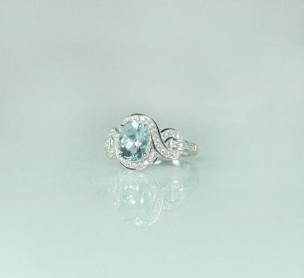 march birthstone ring