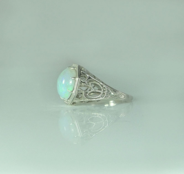 Giant Natural Opal Ring