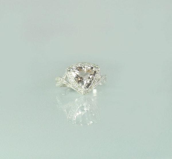 Morganite Art Deco Ring
