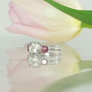 Tourmaline Three Stone Ring