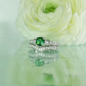 Tourmaline Wedding Set