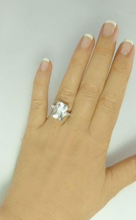 Natural Herkimer Diamond Ring