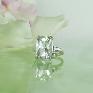 Natural Herkimer Diamond Ring