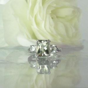 Herkimer Diamond Statement Ring