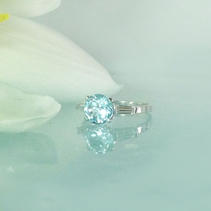 Unique Blue Topaz Ring