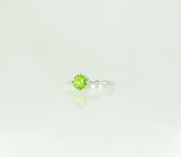 Peridot Solitaire Ring