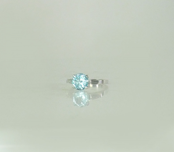 Unique Blue Topaz Ring