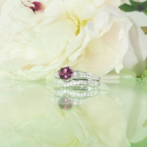 pink tourmaline wedding set