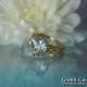 Herkimer Diamond Yellow Gold Ring
