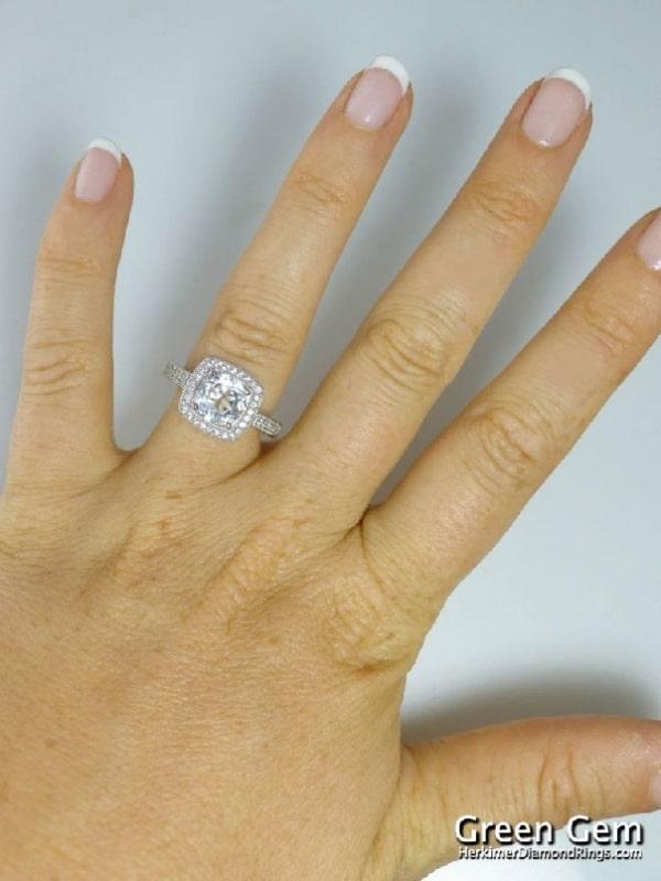 White sapphire ring