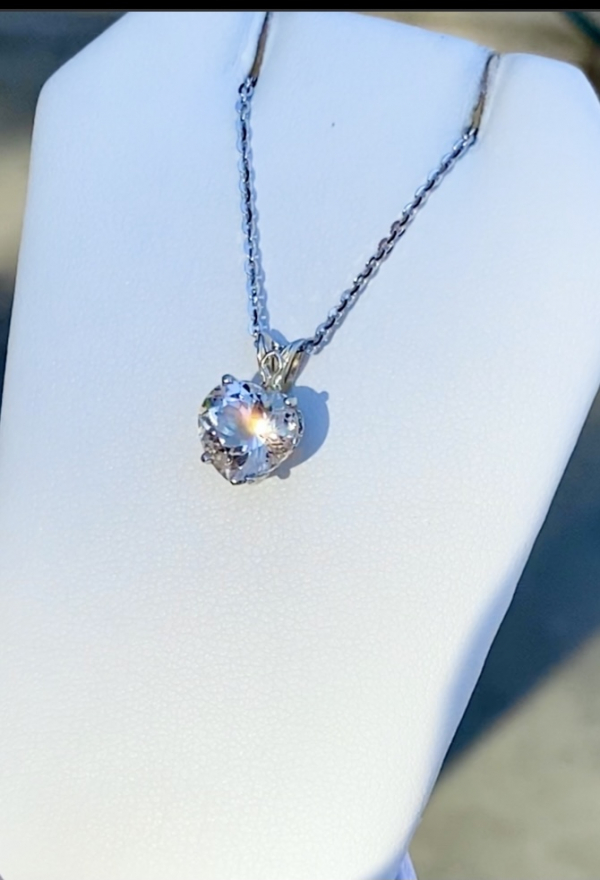 Heart Cut Herkimer Pendant