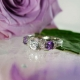 Herkimer Diamond Ring Natural Amethyst Accents