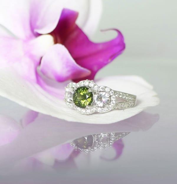 Green zircon ring