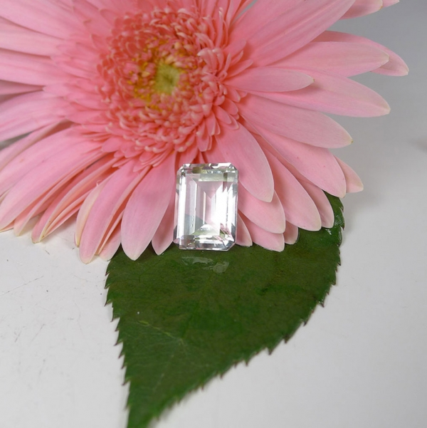 Herkimer Diamond loose emerald cut gemstone