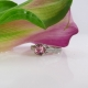 Pink Tourmaline Sterling Ring